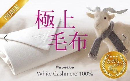 ホワイトカシミヤ毛布 [№4631-0794]